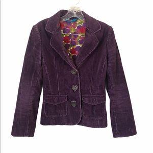 Boden Purple Corduroy Blazer Excellent Condition